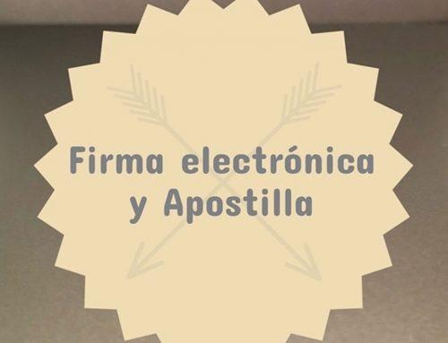 Firma electrónica y Apostilla